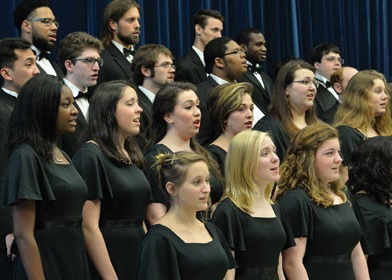 The University Chorale singing