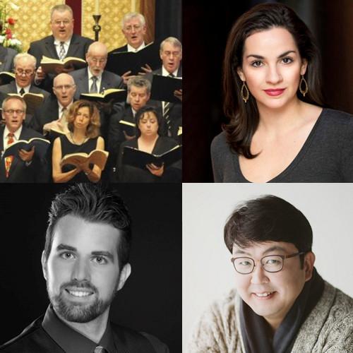 Bach in Balt Choir; Natanya Washer, soprano; Jeff Williams, bass; Dr Min Jin, tenor.