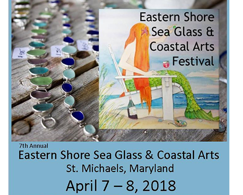 Eastern Shore Sea Glass & Coastal Arts Festival poster