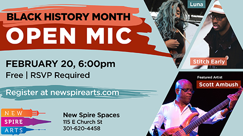 Black History Month Open Mic poster