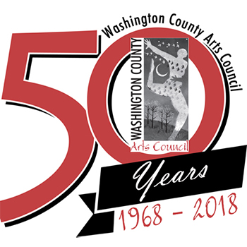 50th Anniversary Logo for Arts Council