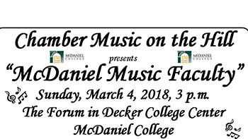 McDaniel Music Faculty flyer