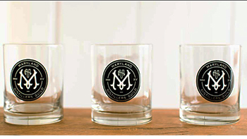 Maryland Distillers Guild tasting glasses