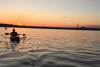 Sunset Paddle on the Patapsco River