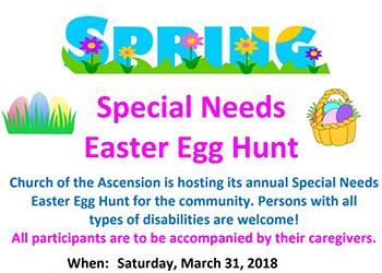 Special Needs Easter Egg Hunt poster
