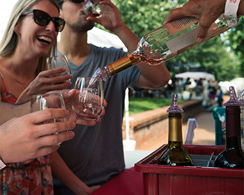 People at the Frederick Wine Festival