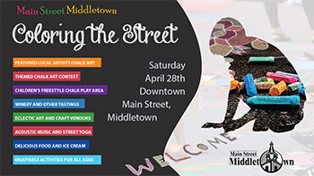 Coloring the Street 2018 poster