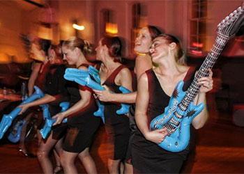 Ladies Enjoying Retro Prom