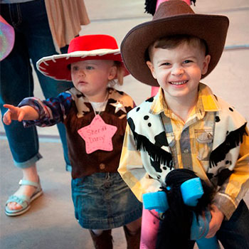 Kids having wild west fun at the B&O