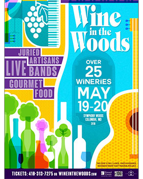 Wine in the Woods Official 2018 Poster