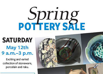 Spring Pottery Sale flyer