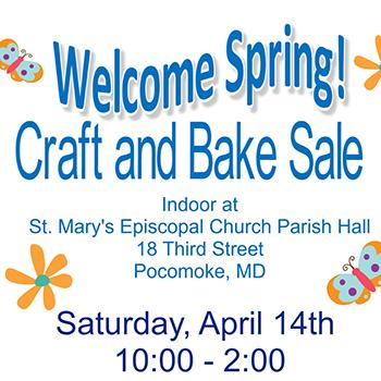 Welcome Spring Craft & Bake Sale Flyer