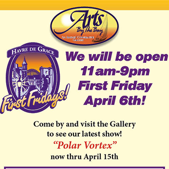 Arts by the Bay Gallery First Friday Poster