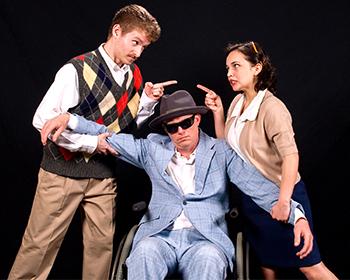 Three Cast Members on Stage