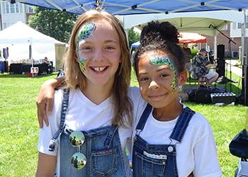 Children enjoy face painting at ArtsFest