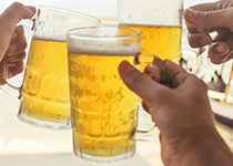Mugs of Beer at Festival