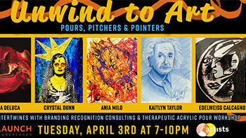 Unwind to Art - Pours, Pitchers & Pointers