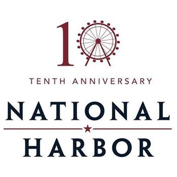 National Harbor's 10th Anniversary logo