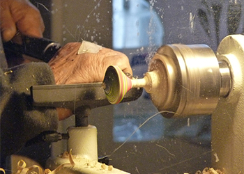 Turning Wood on a Lathe