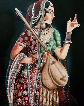Woman with Sitar