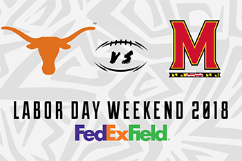 Texas vs Maryland Opening Game Poster