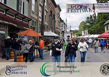 People at the 2017 Sykesville Art & Wine Festival