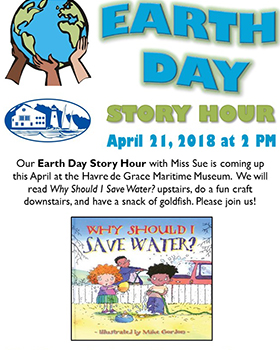 Earth Day Story Hour Flyer