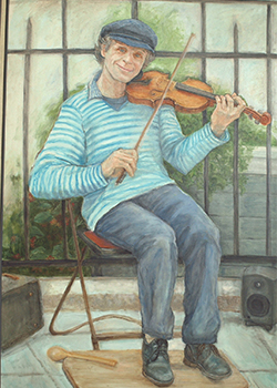 Fiddling Around, Painting by Pat Roberie