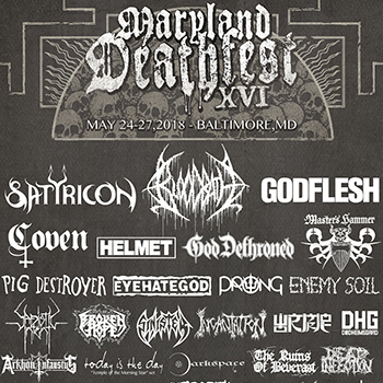 Maryland Deathfest 2018 flyer