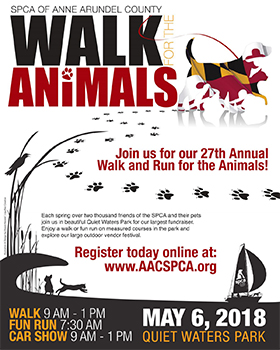 Walk for the Animals Flyer