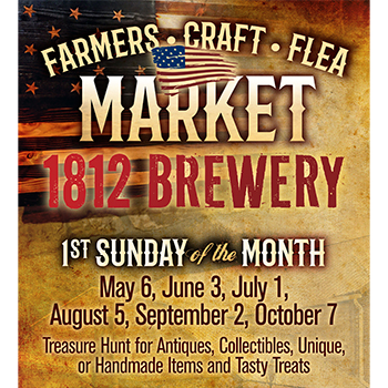 Find your treasures at 1812 Brewery flyer