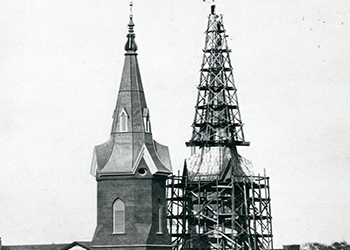Church Spire Under Construction