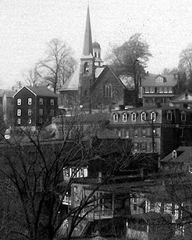 Scene of Ellicott City Buildings