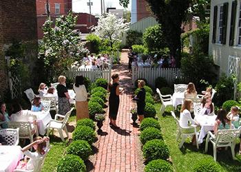 Girls' tea in the Garden