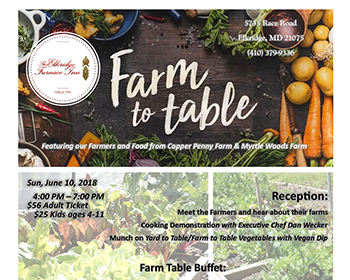 Farm To Table at Elkridge Furnace Inn