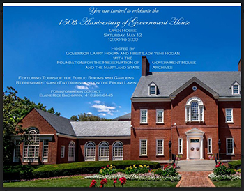 Invitation to Government House's 150th Anniversary