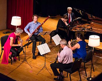 Chesapeake Chamber Musicians Rehearsing