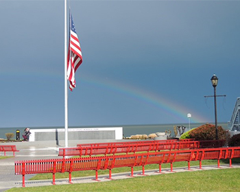 Flag at Veterans' Memorial Park