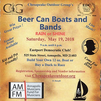 Beer Can Boats and Bands Poster