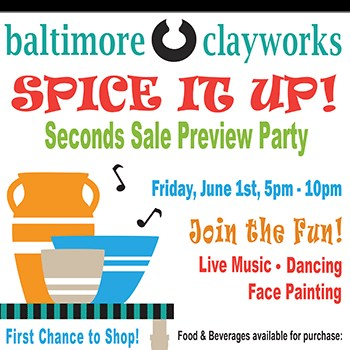 Baltimore Clayworks' Spice it Up Poster