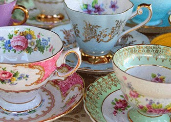 Tea Cups and Saucers for the Liberty Tea