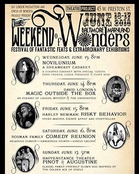 Weekend of Wonders promotional poster.