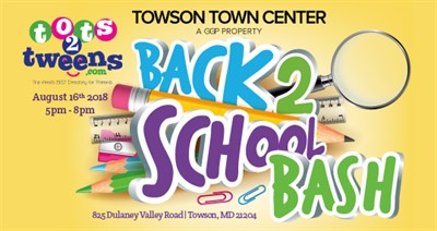 Back2School Bash Towson Poster