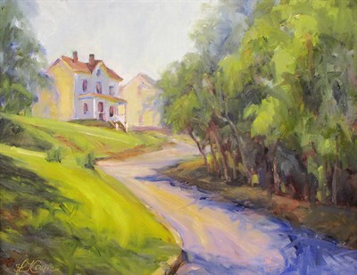 Sun on a Hill by Ann Crostic