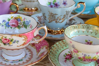 Beautiful and delicate tea cups