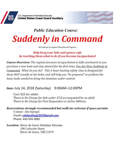 Suddenly in Command flyer