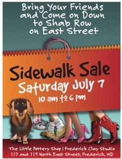 Pottery Sidewalk Sale 7/7/18 from 10AM - 6PM