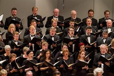 Baltimore Choral Arts Chorus singing