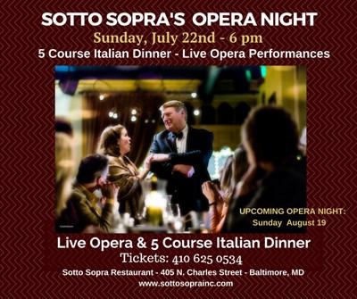 Live Opera & fine Italian cuisine