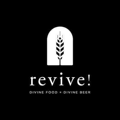 Revive! Divine Food + Divine Beer Logo